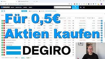 Für 0,50€ Aktien kaufen - Niederländischer Broker DeGiro Erfahrungen & Test [Live Aktienkauf]