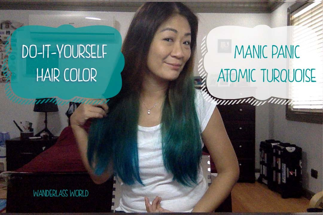 Manic Panic Atomic Turquoise Diy Hair Color On Black