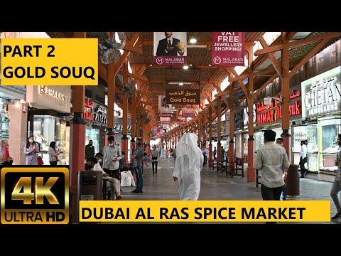 4K Dubai Gold Souq & Spice Market Part 2