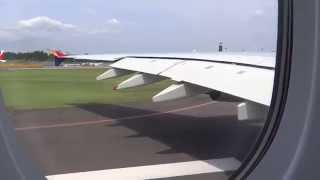 巨大旅客機A380の離陸を機内から撮影  -Asiana A380-800 Takeoff at Narita International Airport -