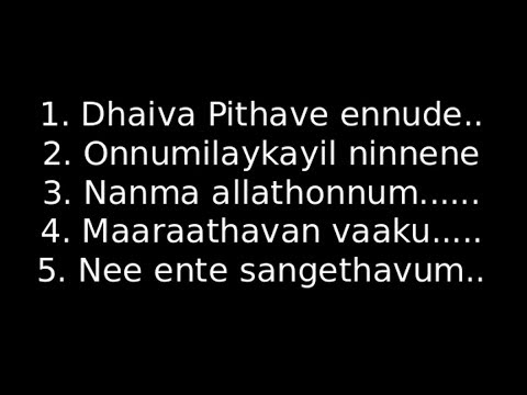 Malayalam Christian Worship songs with lyrics -2