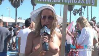 Repeat youtube video Interview with Lara Terstenjak, spokeperson of GoTopless.org