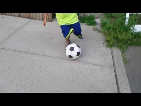 Ryan and John Paul playing soccer