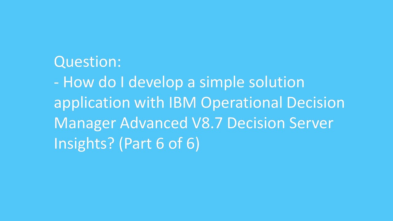 Odm Decision Server Insights Archives Odmdev Insight Working Of Electrical Line Tester How Advanced Dsi To Create A Solution Project Part 6 Test The