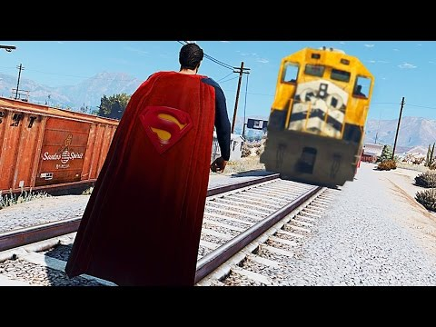 GTA 5 TREN VS SUPERMAN