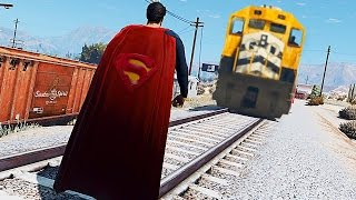 GTA 5 TREN VS SUPERMAN