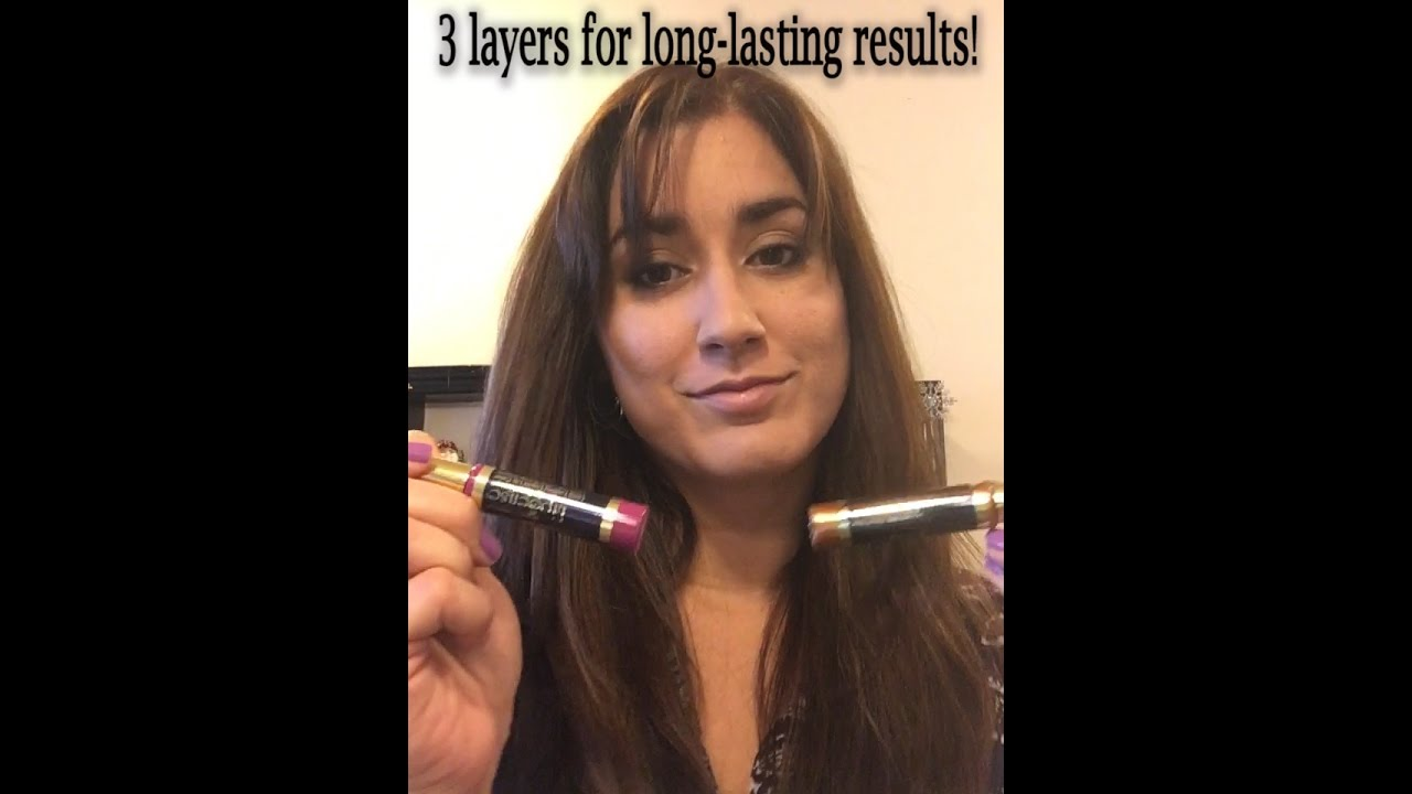 How To Apply Lipsense By Senegence Quick Demo Purple Reign & Bronze Shimmer  Wow