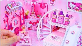 DIY Miniature Dollhouse Room ~ Hello Kitty Room Decor ~ 10 Minute DIY Doll Crafts #9