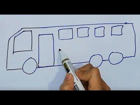 Hướng dẫn bé tập vẽ ô tô máy bay | How to draw car, truck, airplain