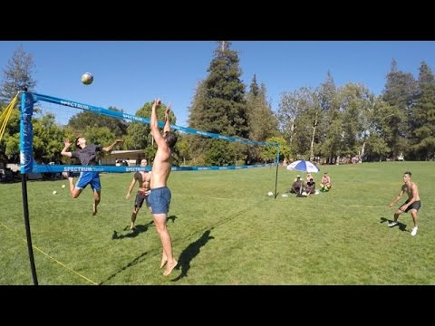 Number 1 Rated Portable Outdoor Volleyball Set Park Sun Sports Spectrum Classic Youtube