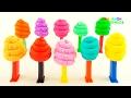 Учим цвета для детей Учимся считать с Пез Диспесерами Сюрпризы из шарикового пластилина mp3