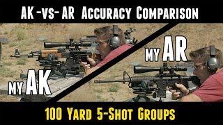 AK47 vs AR 15 Accuracy Comparison Between My Rifles