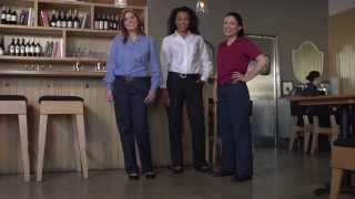 Aramark Pink Zipper Collection™ - A Softer Side to Women's Uniforms