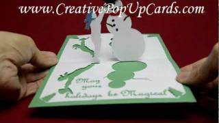 Christmas Pop Up Card: Magical Snowman