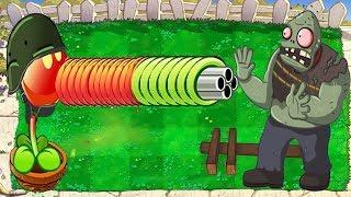 Plants vs Zombies - Gatling Pea vs Dr. Zomboss
