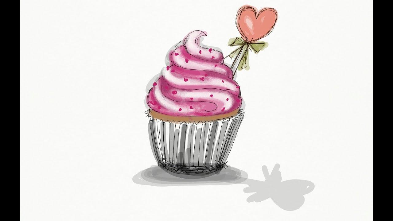 Cupcake Cizimi Popart How To Draw A Cupcake Youtube