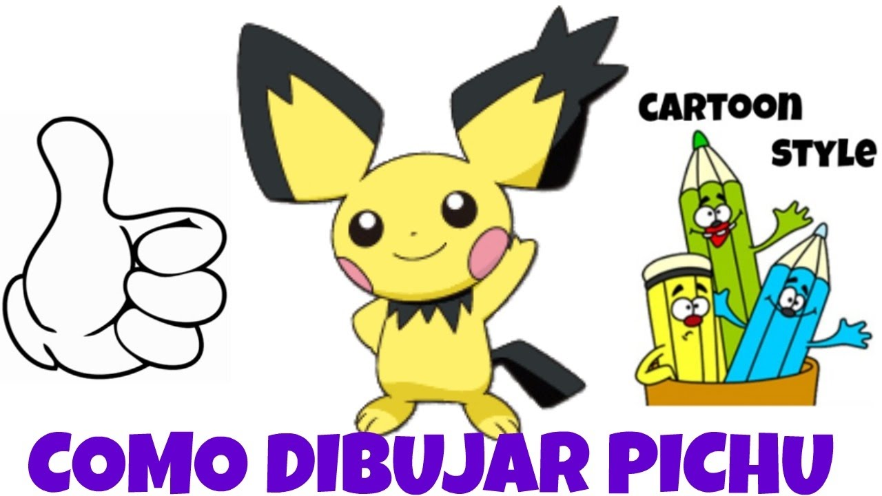 Como Dibujar Pichu How To Draw Pichu Pokemon Cartoon Style Youtube