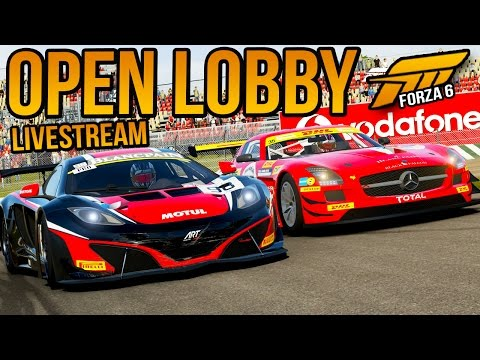 Forza 6 GT Racing Open Lobby! (Livestream)