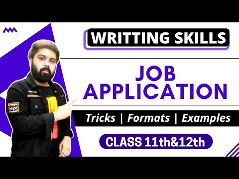 Job Application For Class 11 And 12 In Hindi Youtube