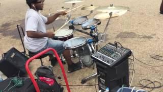Traps drum busking