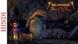 Famous Animated Action Scene - Bal Hanuman Return of the Demon - Monkey & The Crocodile