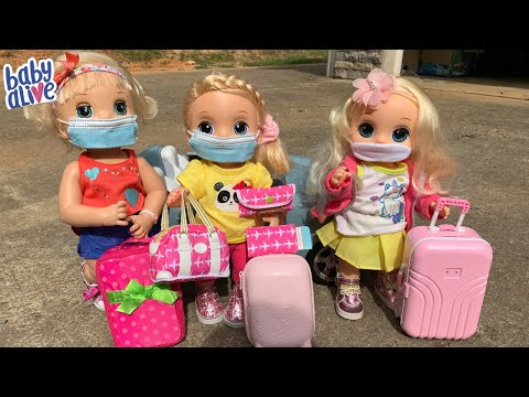 Baby Alive Packing for Vacation Doll Family Travel Routine