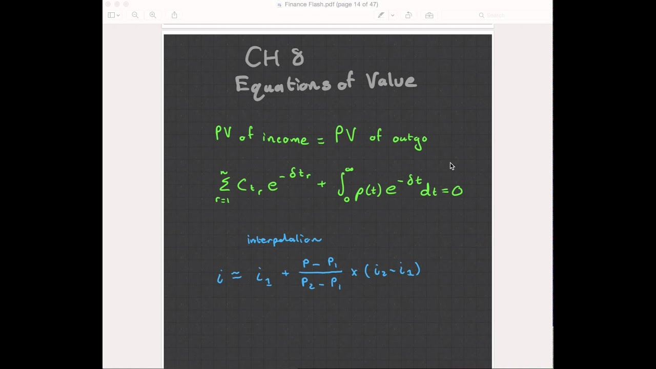ct1 chapter 8 equations of value  actuarial science