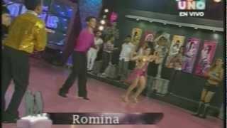 Romina Villao - Performance salsa Mini Idolos CANAL UNO Ecuador