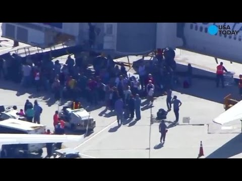 REAL! Footage From Inside The Fort Lauderdale Airport Shooting (Actually Scary)