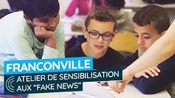 Atelier de sensibilisation aux 'fake news' avec Info Hunter à Franconville