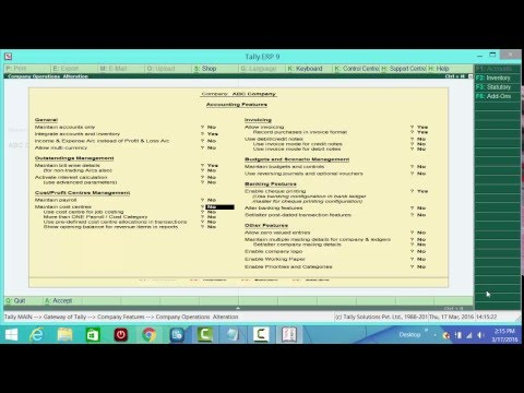 Tally ERP 9 Professional Video Tutorial in...
