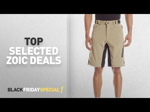 Cyber Monday / Black Friday ZOIC Cycling Wear: ZOIC Men's Ether Cycling Shorts, Tan, Large