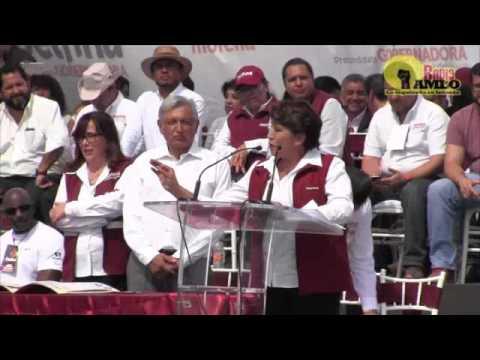 Discurso completo de la precandidata de #morena en el Estado de México Delfina Gómez Álvarez
