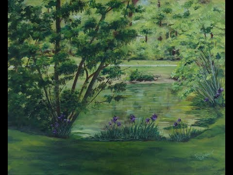 A Plein Air Oil Painting: A Study in Green