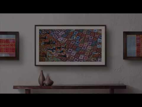 sneak peek samsung the frame youtube. Black Bedroom Furniture Sets. Home Design Ideas