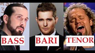 Bass, Baritone & Tenor - Low & High notes!!!