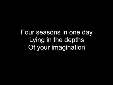 Four Seasons In One Day (Crowded House) - HD With Lyrics! By: Chris Landmark