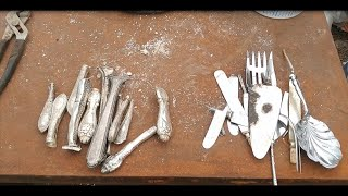 How to Recover Sterling Silver from Silverware and Melt in a Furnace