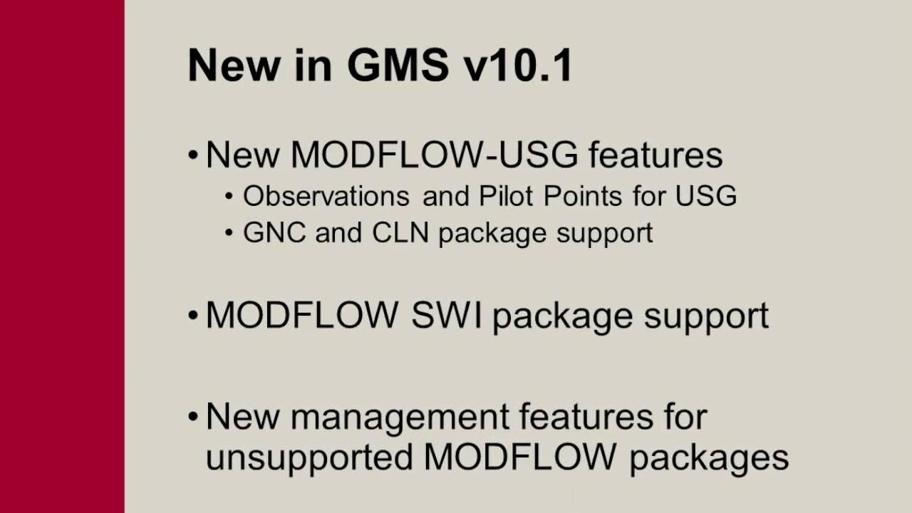 GMS: What's New in v10 1