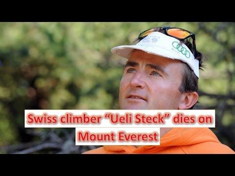 "Swiss climber ""Ueli Steck"" dies on Mount Everest"