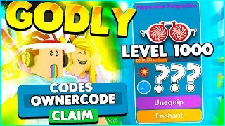 ALL UNBOXING SIMULATOR CODES AND LEVEL 1000 GODLY HAT! Roblox