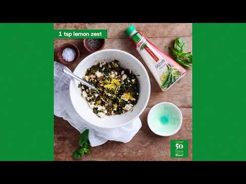Knorr's Garlic & Herb Crumbed Black Mushrooms Stuffed With Spinach And Feta
