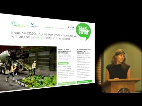 Greenest City Lunch and Learn: Introduction to the greenest city planning process