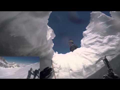 24-05-2015 Chute en crevasse a ski et secours sur le glacier du Strahlhorn.