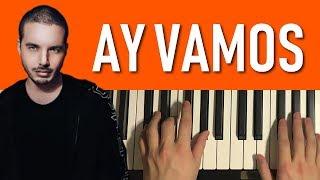 HOW TO PLAY - J. Balvin - Ay Vamos (Piano Tutorial Lesson)