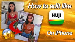How to edit instagram pictures like HUJI CAM on iPhone (free)