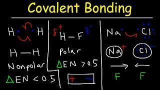 Polar Covalent Bonds and Nonpolar Covalent bonds, Ionic Bonding - Types of Chemical Bonds