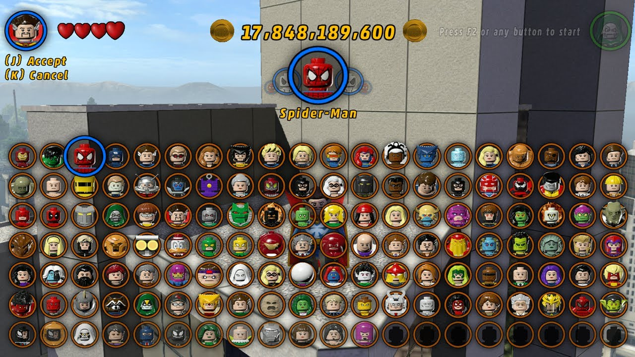 lego marvel super heroes all characters unlocked youtube