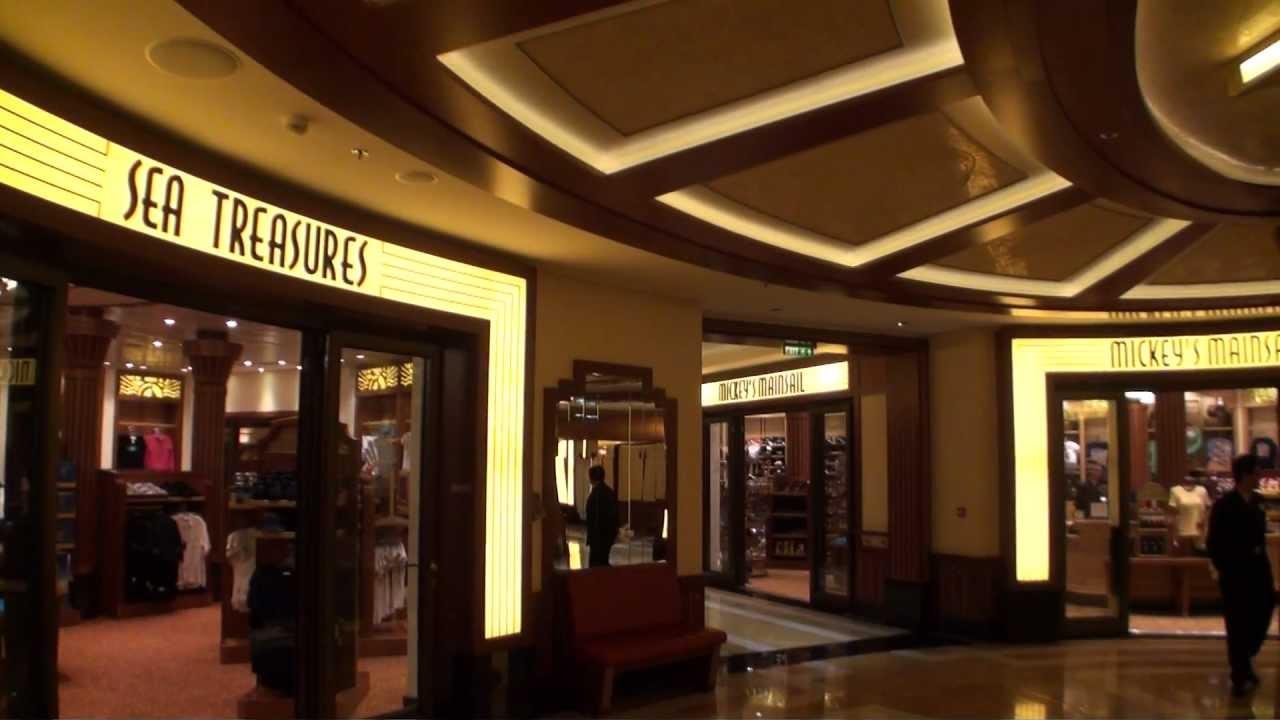 Disney Fantasy Shopping Areas On The Disney Cruise Line YouTube - Cruise ship shops