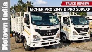Eicher Pro 2049 & Pro 2095XP Truck Review  | Track Review at Pithampur | Motown India
